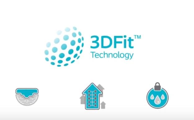 Guarda come la Tecnologia 3DFit® di Biatain Silicone riempie gli spazi morti e previene l'accumulo di essudato.